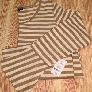 NWT gold shimmer sweater